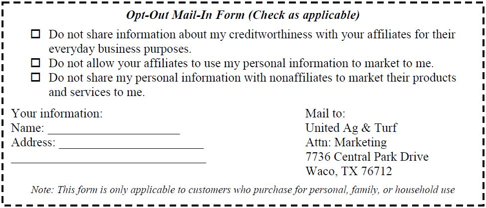 Opt Out Mail In Form