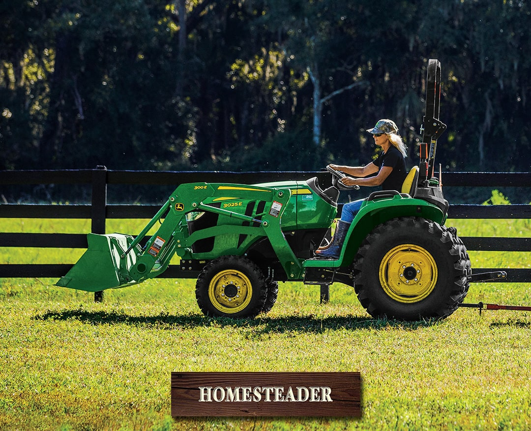 Homesteader: 3025E (25 hp) Tractor Package Special