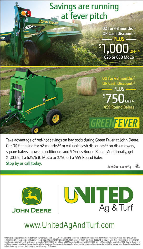 John Deere Moco and Baler Sale